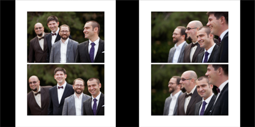 Groom and his bestmen cracking jokes and laughing