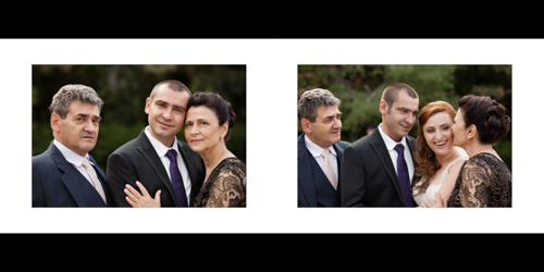 Lovely portraits of groom, bride and groom's parents