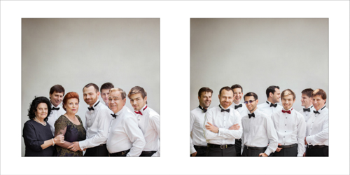 Portraits of groom, his family and bestmen
